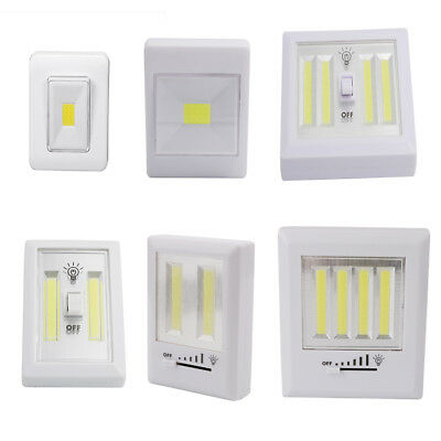Magnetic COB LED Wall Switch Light Battery Operated Wireless Night Lighting Lamp
