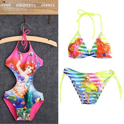 Mermaid Kids Baby Girl wimsuit Swimwear Bathing Suit Bikini Tankini Set Costume