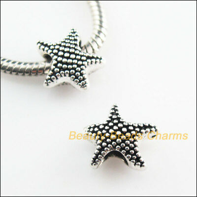 10 New Animal Starfish Charms Tibetan Silver Tone Spacer Beads 12x13mm