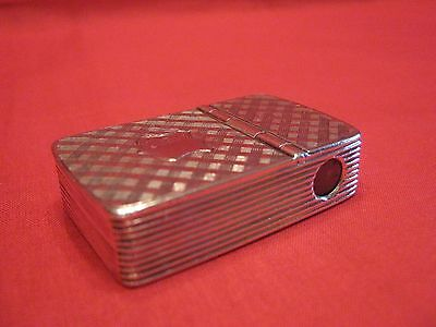 Rare & Collectable 1853 Solid Silver Vesta Case With Cigar/cheroot Cutter.superb