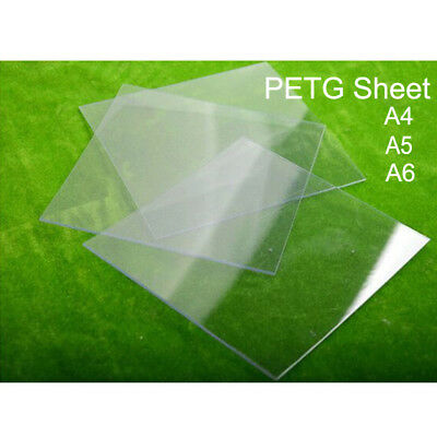 Clear PETG Plastic Sheet A6 - A4 / 0.5mm - 1.5mm Thick Vacuum Forming Moulding