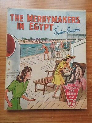 Schoolgirls' Own Library #34 The Merrymakers in Egypt - Daphne Grayson VG+