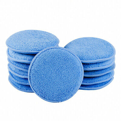 "12PCS 5"" Microfiber Foam Sponge Polish Wax Applicator Car Detailing Cleaning Pad"