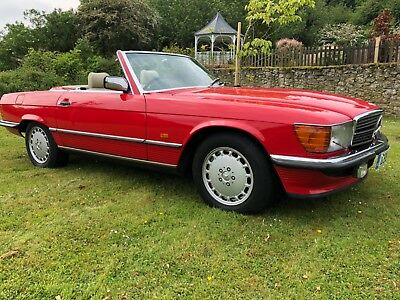 1990 G Mercedes 500Sl R107 Signal Red , Cream Leather, Must Be One Of The Last