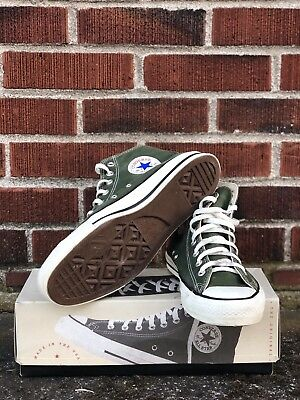 Vintage Converse Army Green High Tops Made In Usa Size 9.5