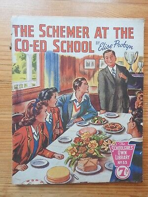 Schoolgirls' Own Library #53 - The Schemer at the Co-Ed School - Probyn   VG