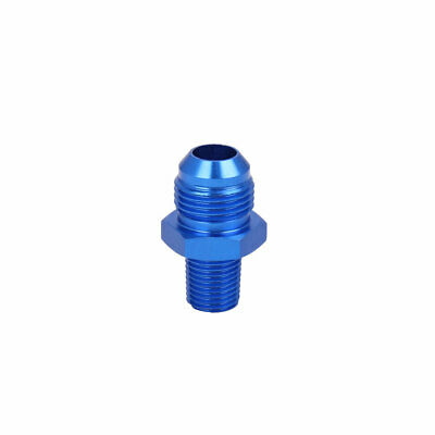 Blue AN8 1/4inch Straight Car Fuel Oil Air Hose End Fitting Adapter Connector