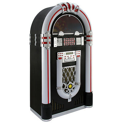 Jukebox Anni '50 con Vinile CD USB Bluetooth SD/MMC Memory Card Radio FM e AUX