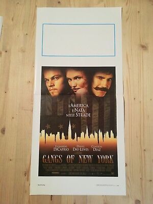 GANGS OF NEW YORK Locandina Film 33x70 Poster Originale DI CAPRIO SCORSESE