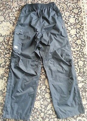 HELLY HANSEN Black Packable Rain Pants, hiking, camping size XS