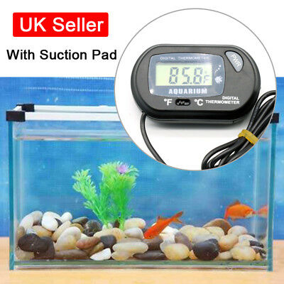 Home Aquarium Goldfish Fish Tank Water Digital LCD Thermometer Temperature UK S