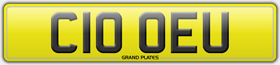 Chloe U Registration C10 Oeu Reg Chloey No Fees Assigned 4U Number Plate Clo Reg