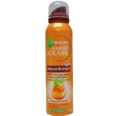 Garnier Ambre Solaire 150ml Bronzer Self Tanning Spray Light Natural