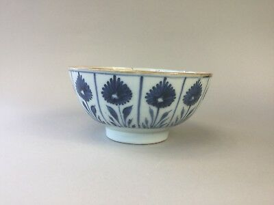 18th C. Chinese Blue and White Bowl - 'Aster Pattern'