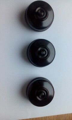 Three Bakelite light switches