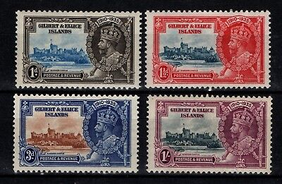 Gilbert and Ellice Islands 1935 Silver Jubilee SG 36-39 Mint MH