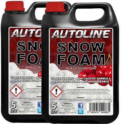 AUTOline Premium Cherry Snow foam 2 x 5L Bottles - Big Savings !!