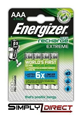 Energizer AAA EXTREME Rechargeable Batteries 800 mAh Pre Charged NiMH HR03