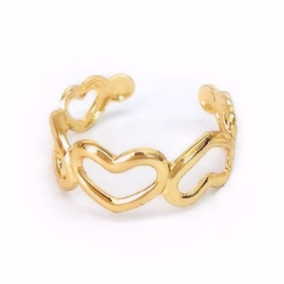 Heart Toe Ring Adjustable Band Perfect for open toe sandals heels UK SELLER 💗