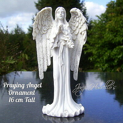ANGEL PRAYING Ornament Figurine Statue Memorial GAURDIAN ANGEL With Wings 16 CM