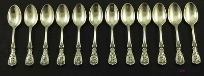 12 Sterling Silver Francis I Demitasse Spoons Heavy Weight