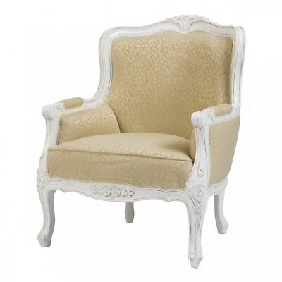 Chateau French White Armchair - French Furniture - French Armchairs