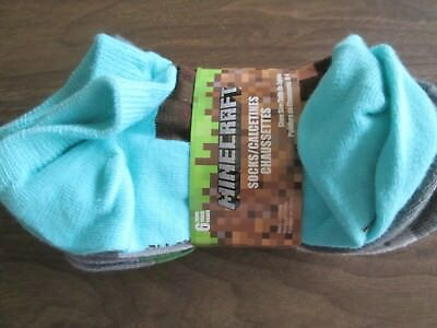 NWT Minecraft 6 Pairs Low Cut Socks Sz 10-4 Multicolored
