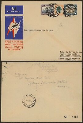 South Africa 1934 - 1st Flight air mail cover to Australia 27218
