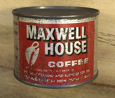 "1950's-60's Scarce Maxwell House Airline Coffee NOS 4 Oz. Can 2.5"" Tall"