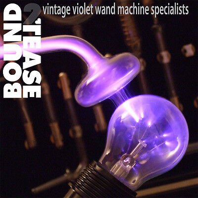VIOLET WAND Ray LIGHT BULB ADAPTER fetish Kink High Frequency IFAS