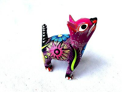 Dog Alebrije Colorful Wood Carving Oaxacan Folk Art Oaxaca  Mexico
