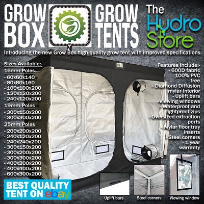 Grow Box Grow Tents All Sizes 16Mm 19Mm And 25Mm Poles Hydroponic Grow Tents