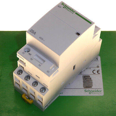 Schneider iCT 25 Amp 4 Pole Contactor Normally Closed Contact NC 220 - 240V Coil