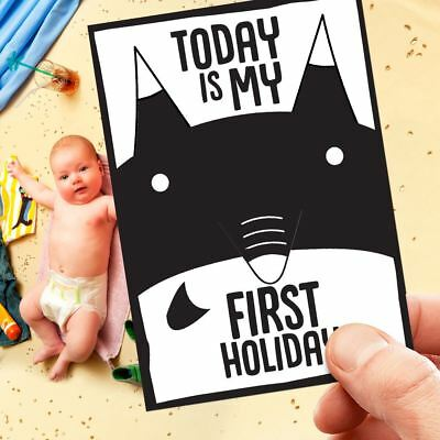 Babies Cards 1st Year Memorable Moments Milestone Cards Baby Shower Unisex B&W I
