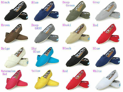 9f2701fa6a3 Women Classics TOM Loafers Canvas Slip-On Flats shoes Lazy shoes size 6-10