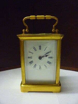 Antique Brass 8 Day Carriage Clock In Good Working Order (1)