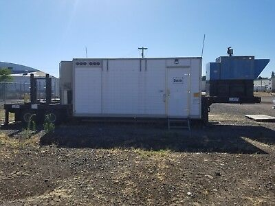 20' Refrigeration trailer with 50kW generator, 2 ACs, cable trays