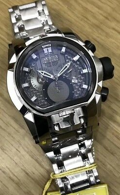 New Box Invicta Reserve Bolt Zeus Dark Gray/Silver Dial Stainless Steel Watch