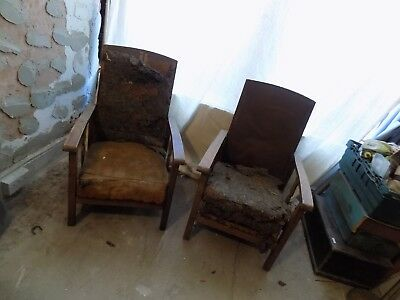 a lovely pair of edwardian sliding chairs for upholstery - great project