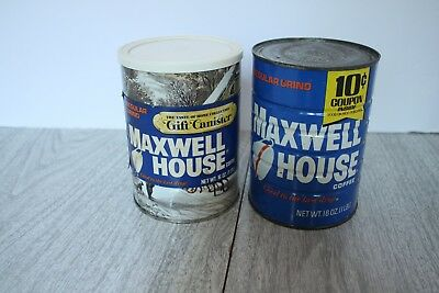 (2) Vintage Full 16 oz. Cans of Maxwell House Coffee  Never Opened