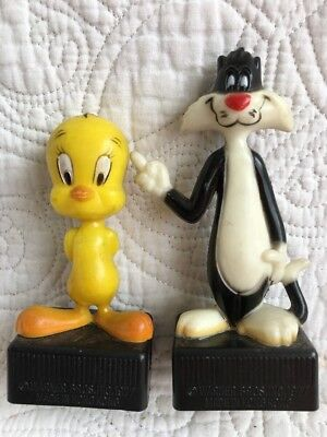 Vintage Looney Tunes WB Sylvester and Tweety Bird 1977 Pencil ✏️ Sharpeners