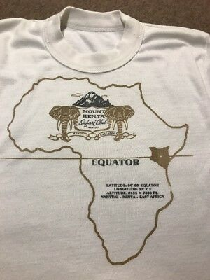 RARE Mount Kenya Safari Club 70's T-shirt Vintage Nanyuki East Africa Medium