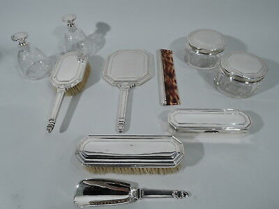 Tiffany Vanity Set - 20500 20573 - Antique Art Deco - American Sterling Silver