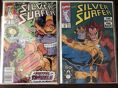 Silver Surfer #44 & 45 - 1990 - Thanos and 1st Appearance of INFINITY GAUNTLET!