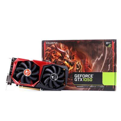 Colorful NVIDIA GeForce GTX1050 3G 96bit GDDR5 Video Gaming Graphics Card 2 Fans