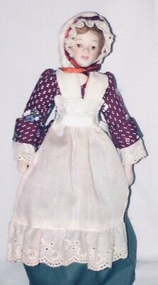 """Avon Collectible Porcelain Doll 1987 """"early American Colonial Doll"""""""
