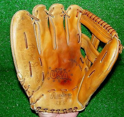 "Rawlings Reggie Jackson Baseball Glove KM8 NY Yankees LH 12"" Excellent Condition"