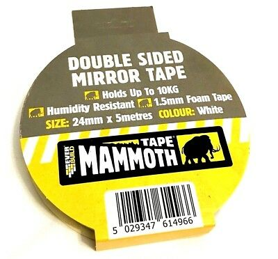 EVERBUILD Double Sided Mounting Tape Heavy Duty Strong Adhesive Mirror fix stick