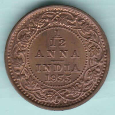British India - 1935 - King George V Emperor - 1/12 Anna - Ex Rare Coin