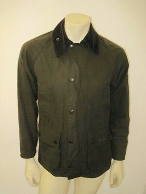 BARBOUR Olive Green CLASSIC BEDALE Waxed Cotton Jacket Size 32 XS